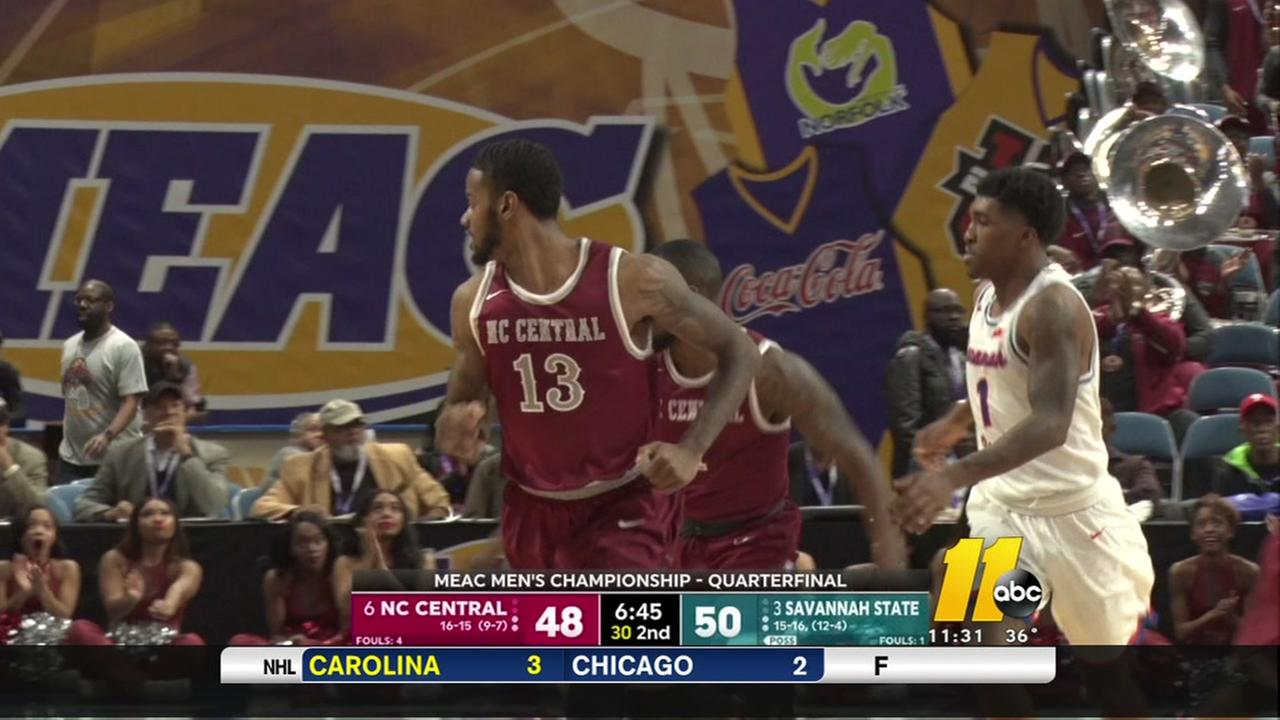 NCCU upsets Savannah State in MEAC tourney