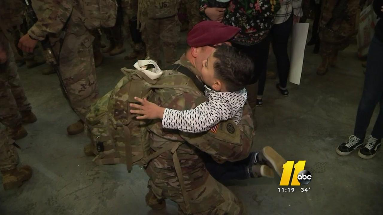 Fort Bragg paratroopers return from Afghanistan
