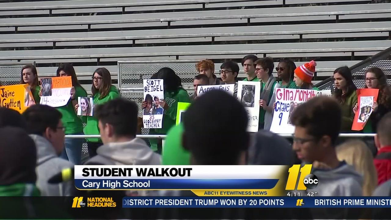 Triangle-area schools participate in National School Walkout