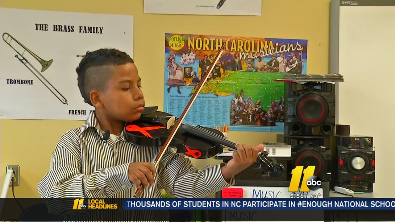 Raleigh boy finds strength to beat cancer through music