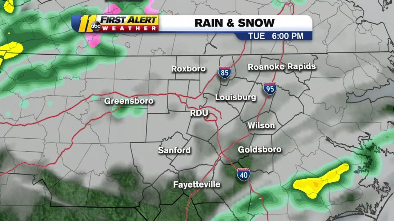 A sloppy commute is in store for Tuesday and Wednesday mornings.