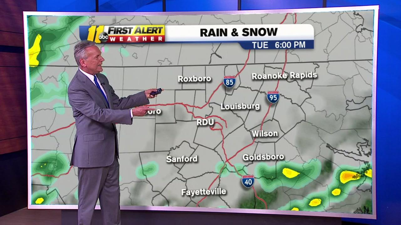 Get ready for rain and snow ahead - and a messy morning commute.
