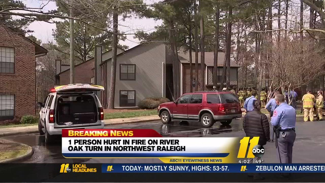 Crews respond to apartment fire in Raleigh