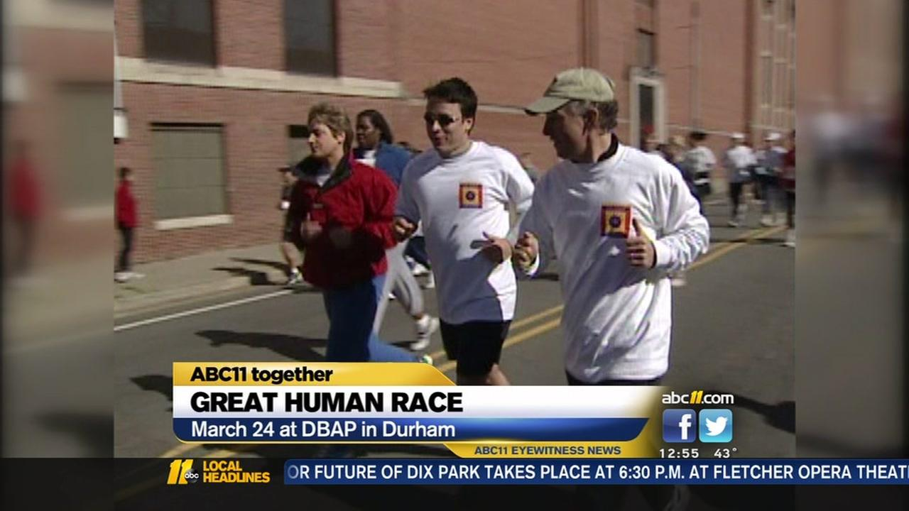 The Great Human Race is set for March 24 in Durham