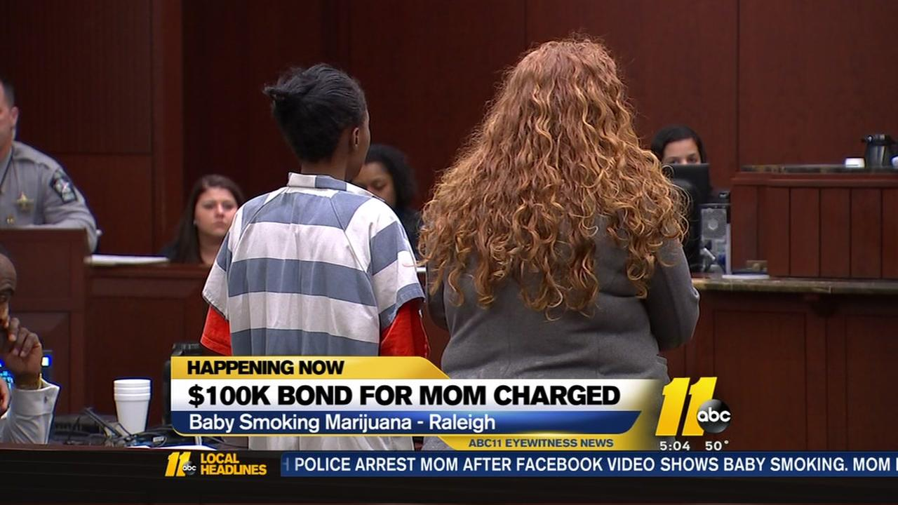 $100K bond for mom charged