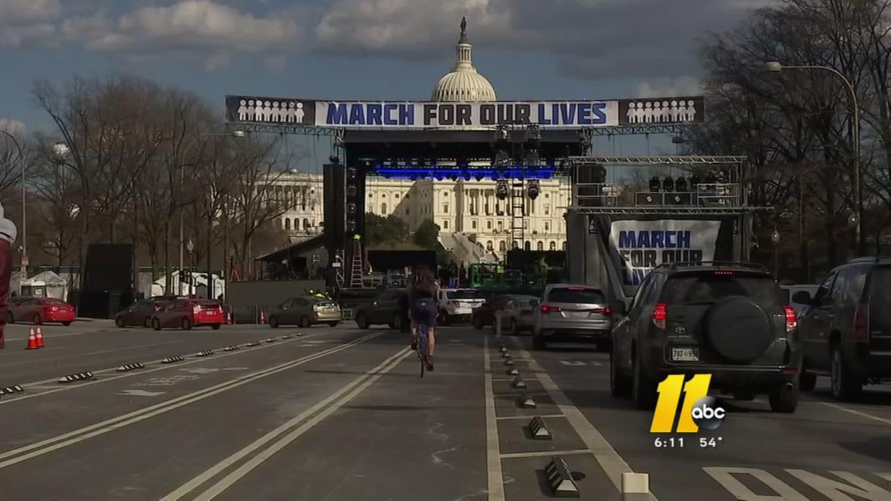 Stage set for March For Our Lives