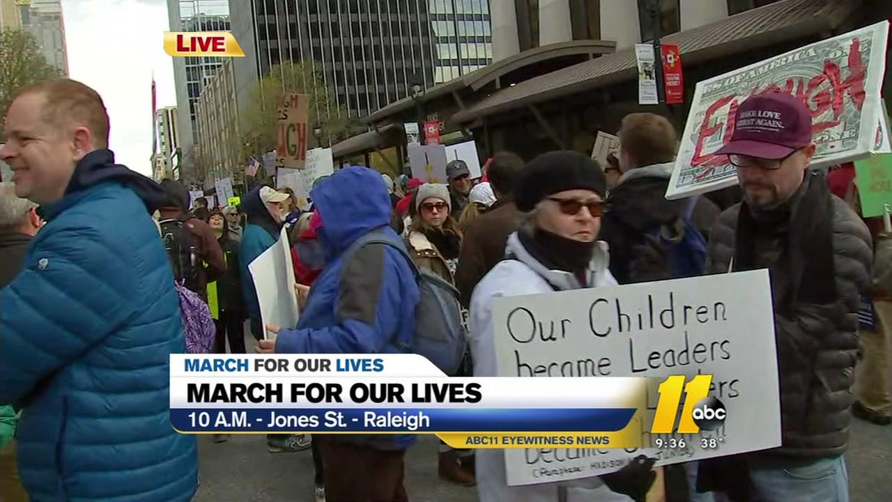 NC students gather in downtown Raleigh for March for Our Lives