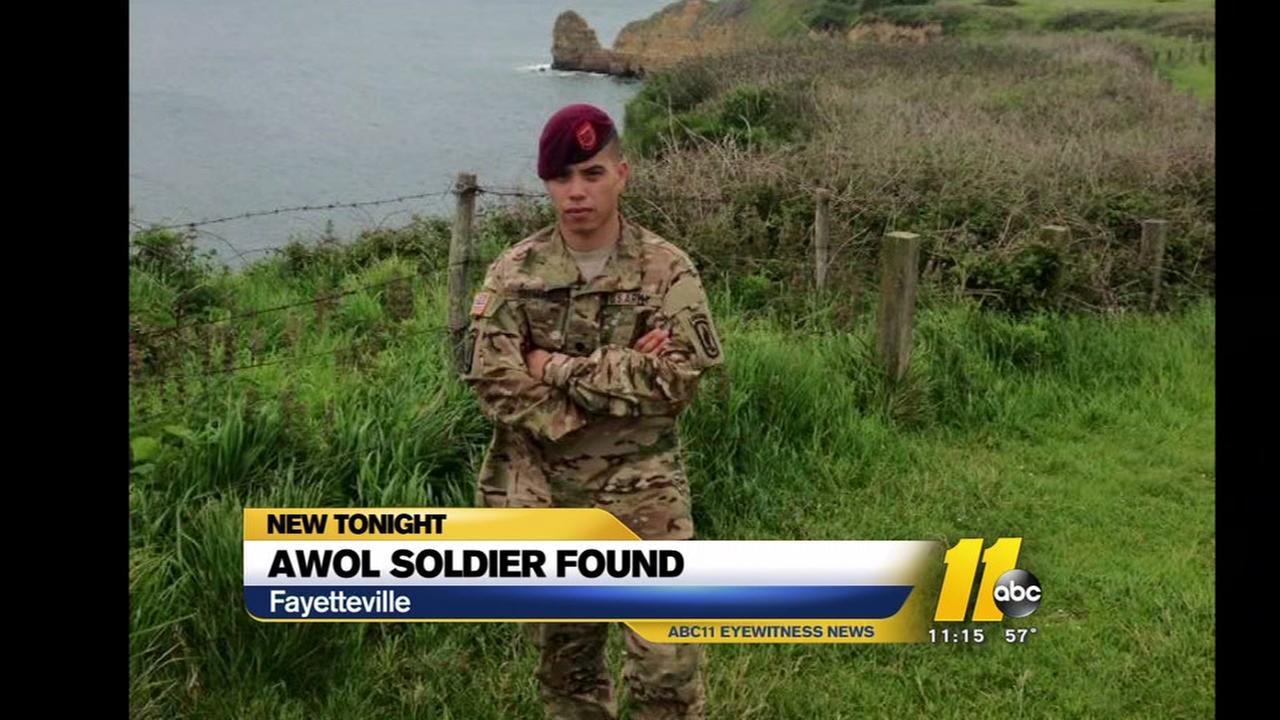 AWOL soldier found safe