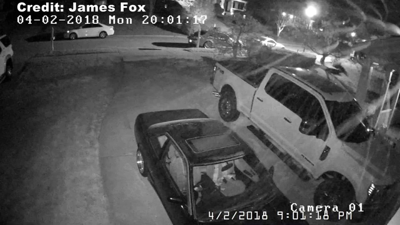 Apex man captures pollen storm on home surveillance camera