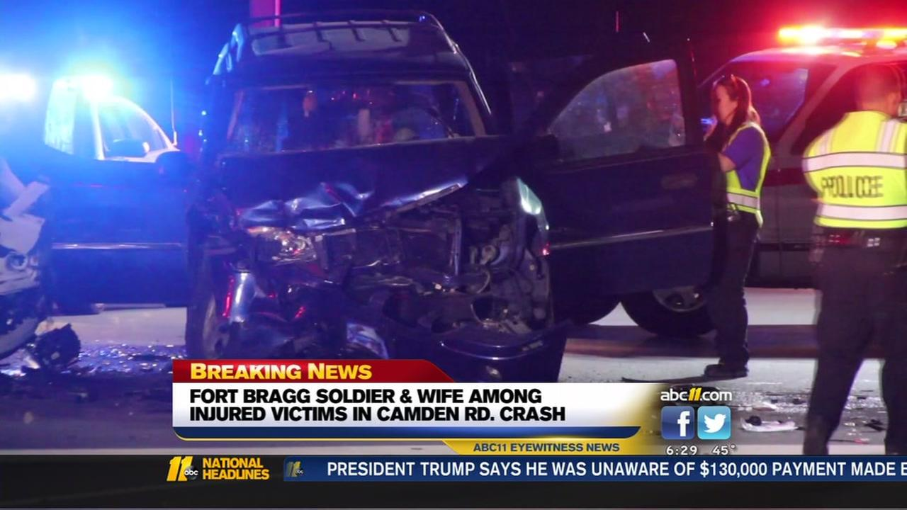 Fort Bragg soldier, 13 others injured after unlicensed 17-year-old driver collides with car