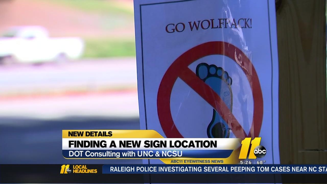Wrecked UNC highway sign needs a new home