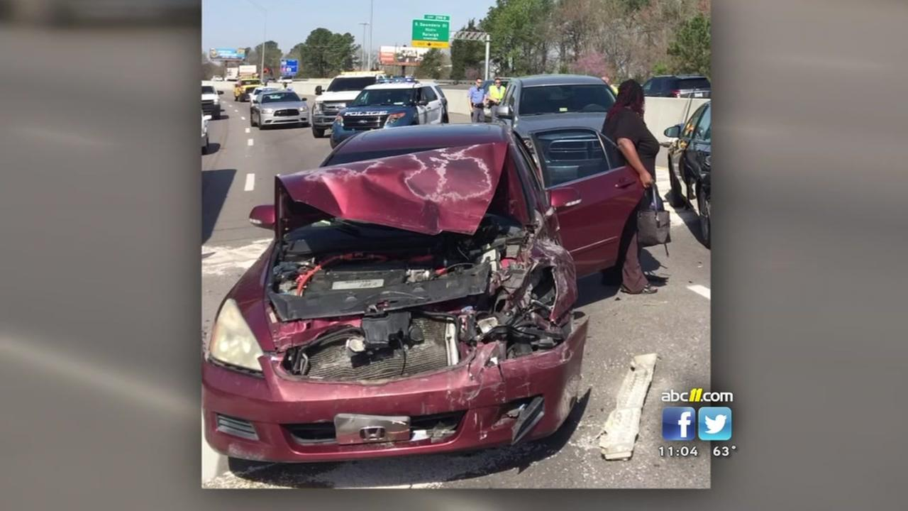 Apex officer escapes injury when woman plows into patrol SUV