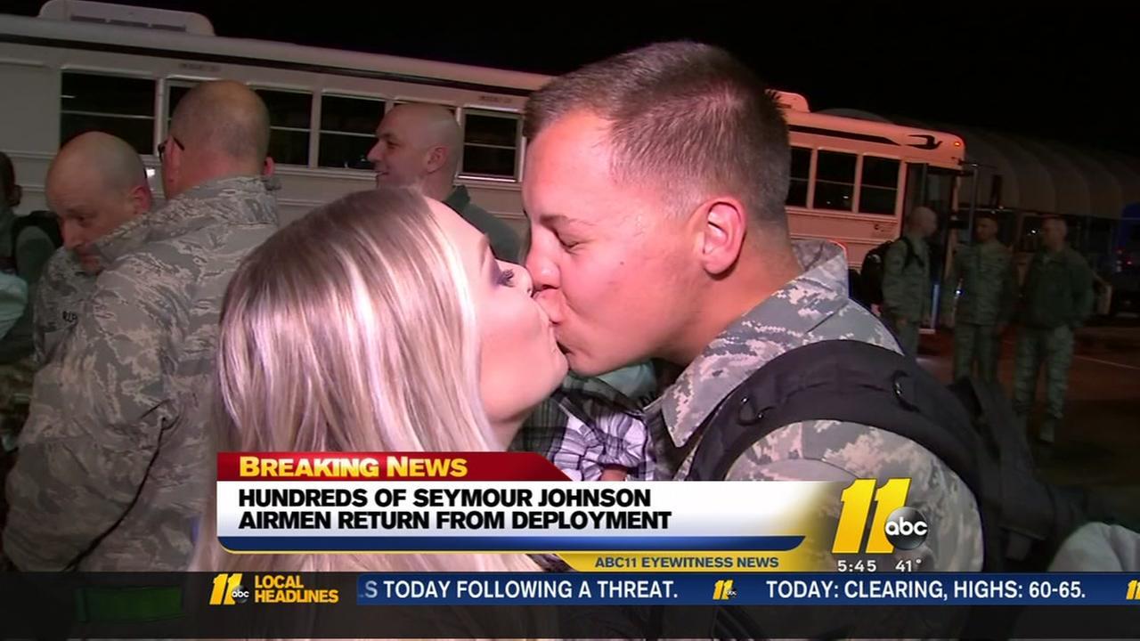 Heartwarming: Seymour Johnson airmen return