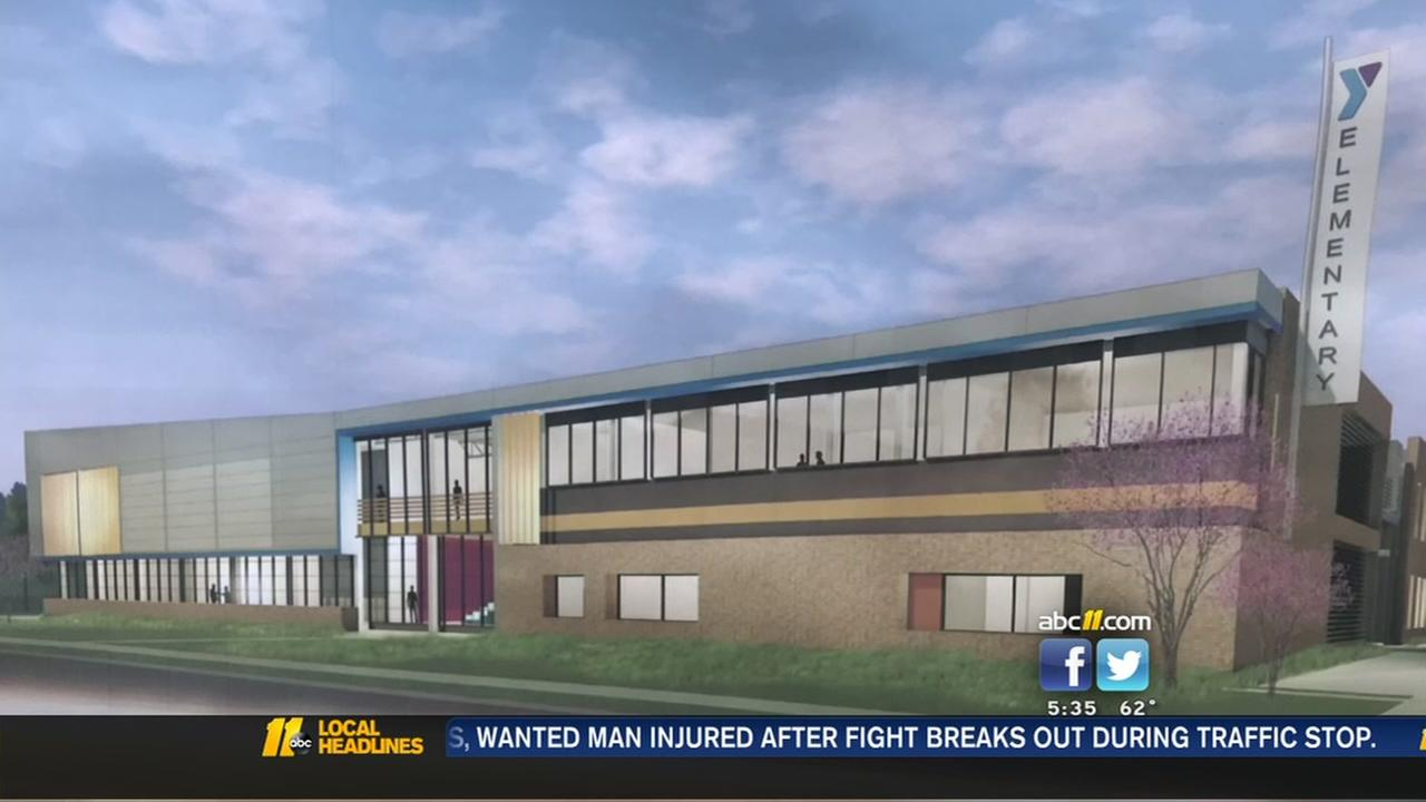 A new school going up in Wake County