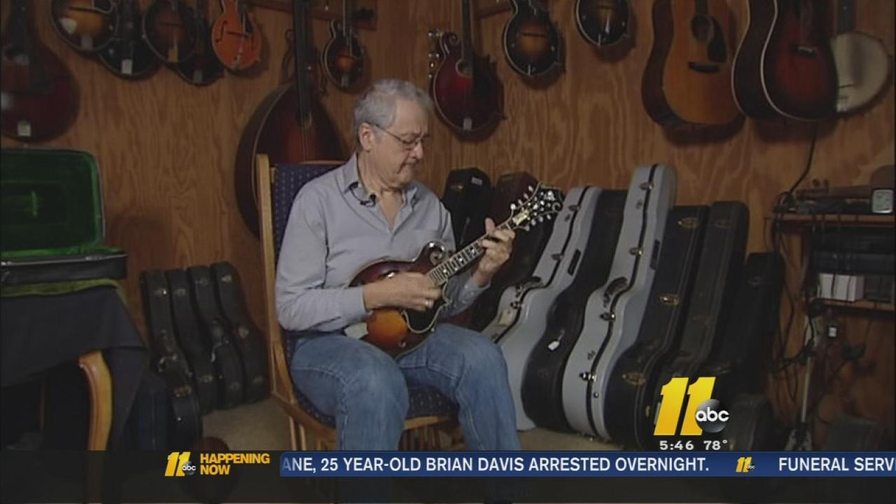 Local bluegrass legend plays most expensive mandolin in the world