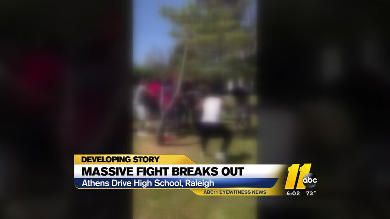 Huge fight breaks out at Athens Drive High School