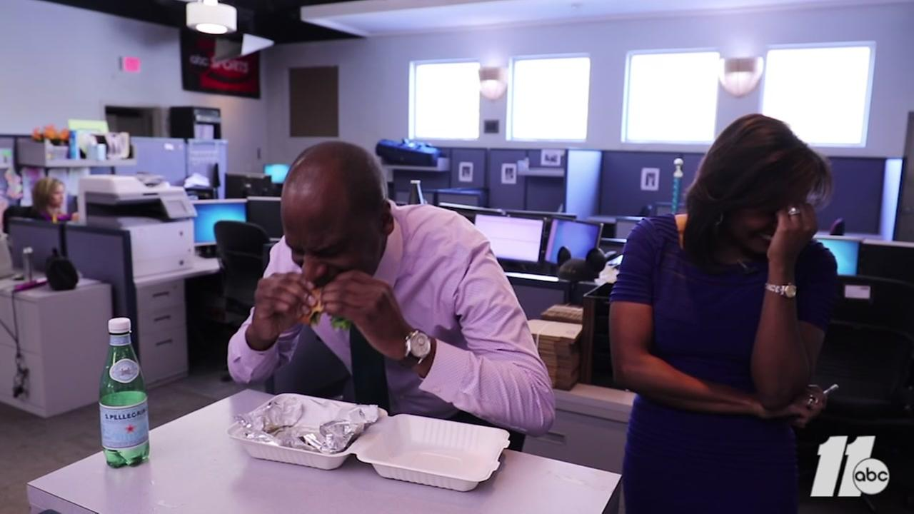 ABC11 tries tarantula burger