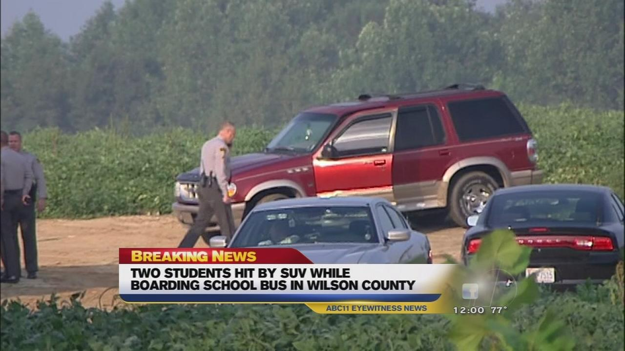 Two Wilson County students injured in hit and run at bus stop