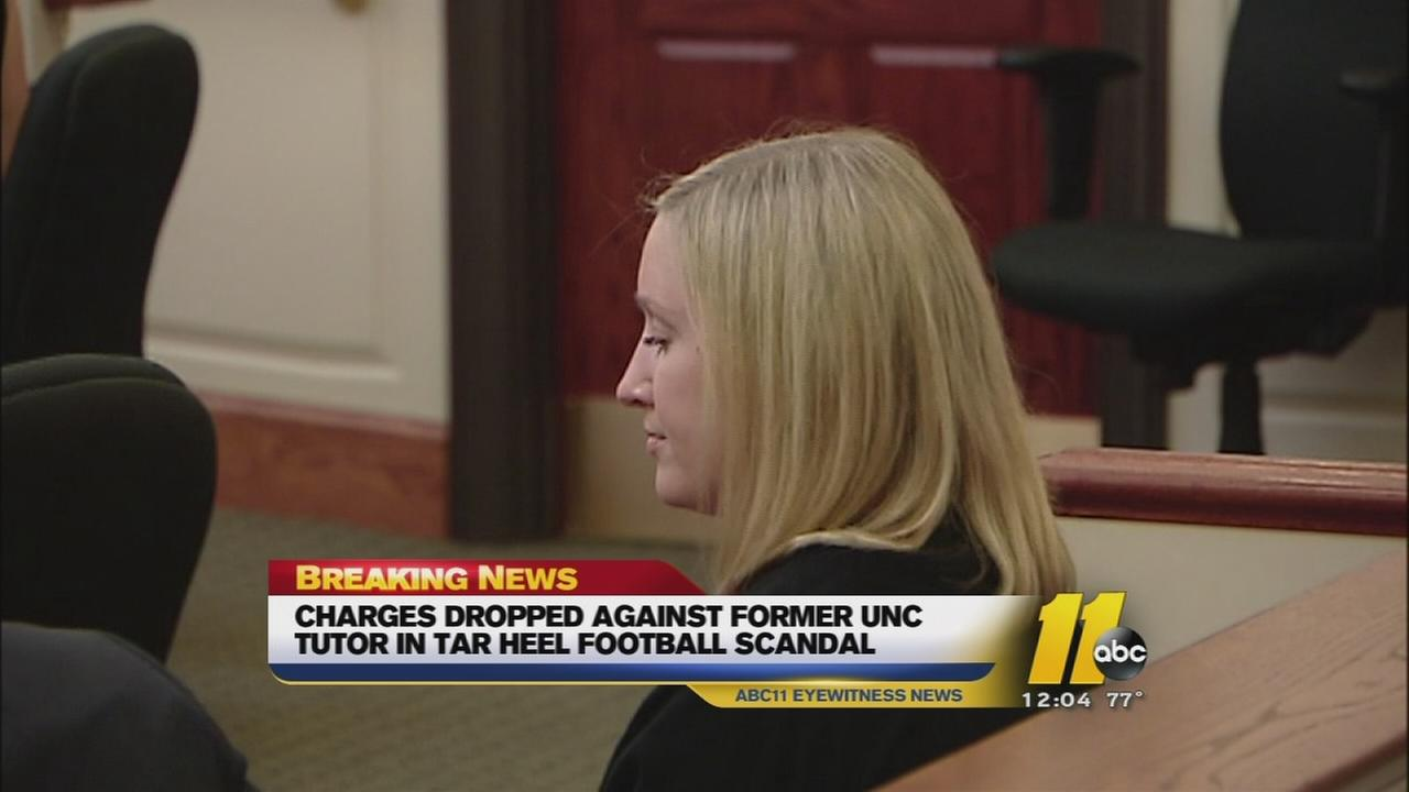 Charges dropped against former UNC tutor in sports scandal