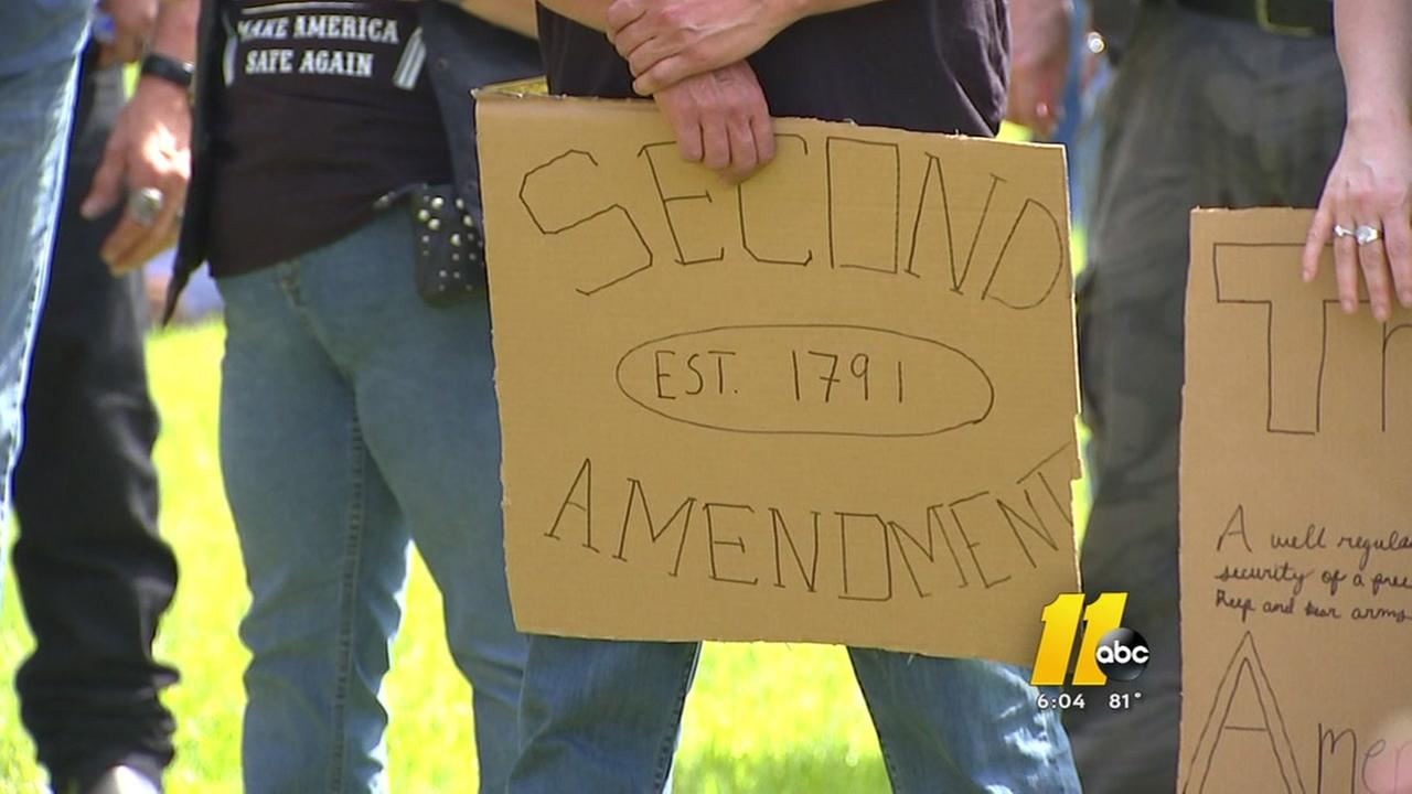 Hundreds attend Second Amendment rally in Raleigh