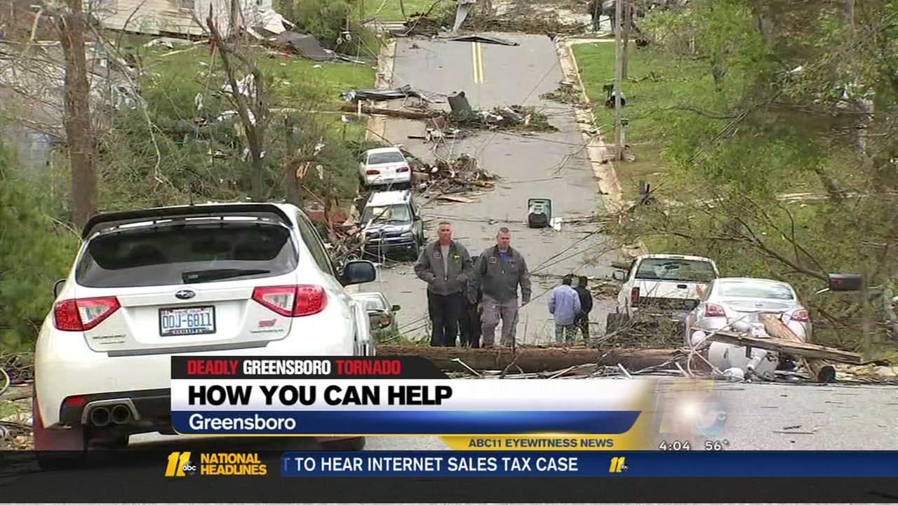 Greensboro tornado: How you can help
