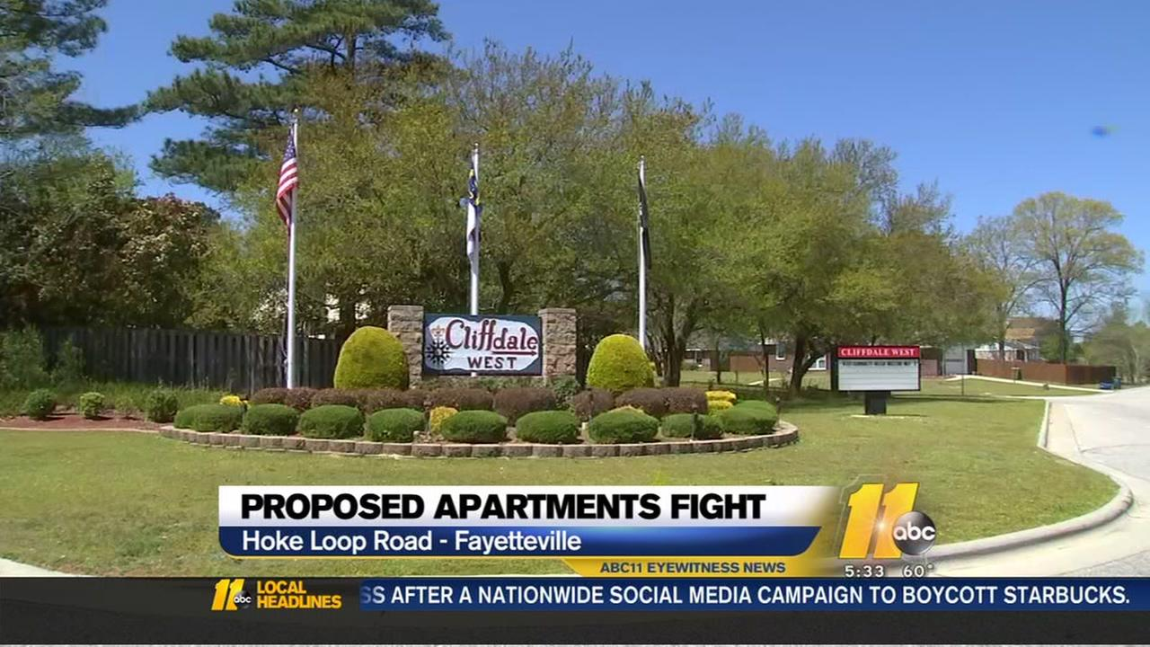 Proposed apartments fight in Fayetteville
