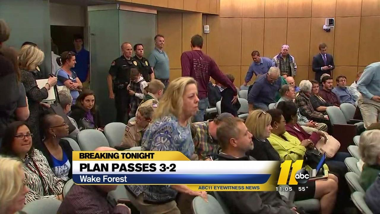 Wake Forest residents upset as town OKs townhome plan