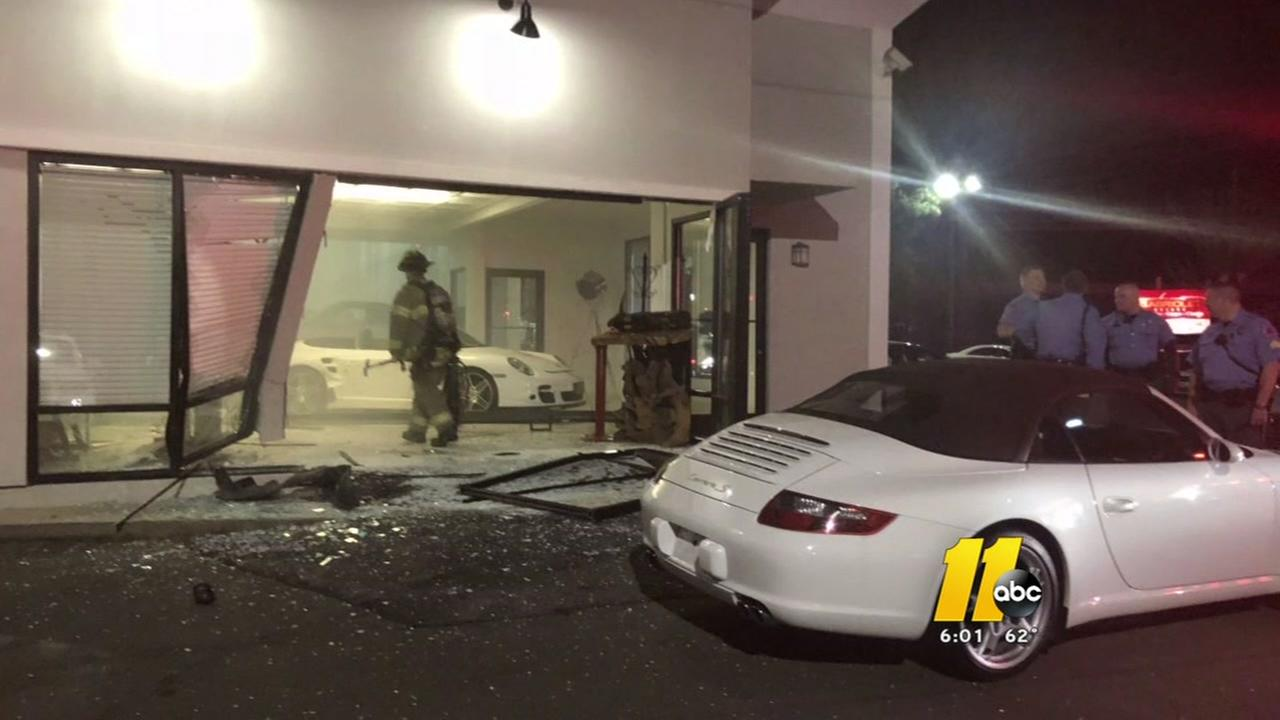 Driver crashes into dealership, then gets in wrong-way crash