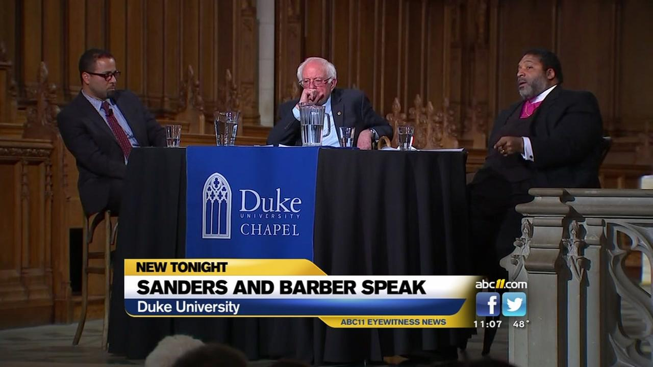 Sanders, Barber speak at Duke Chapel