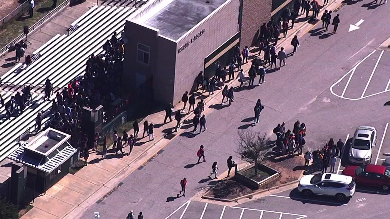 Triangle students participate in National School Walkout