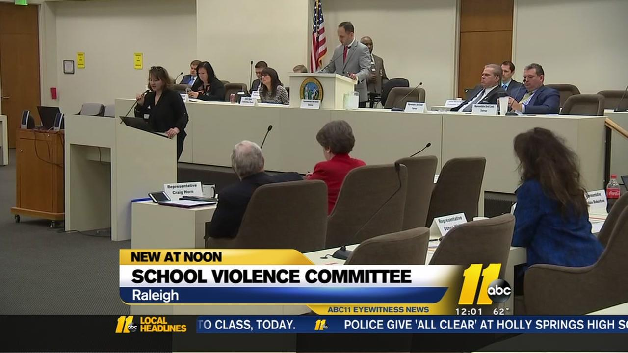 School Violence Committee meets in Raleigh
