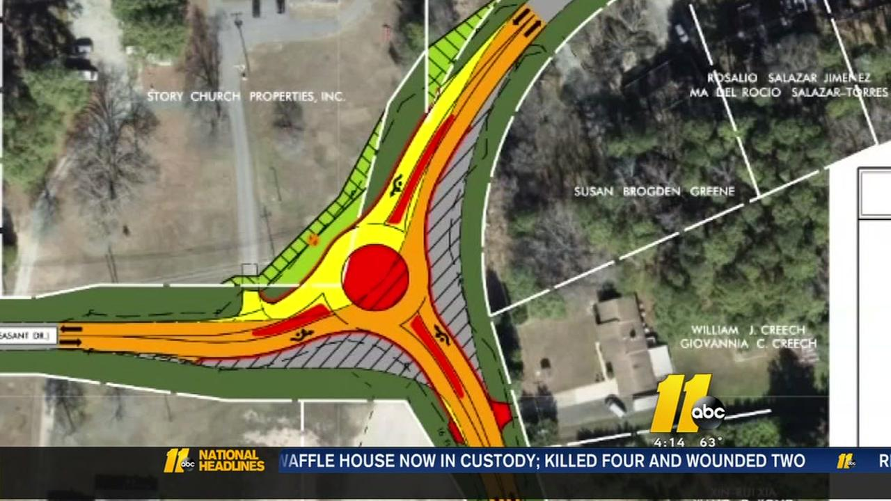 homeowners not pleased with roundabout