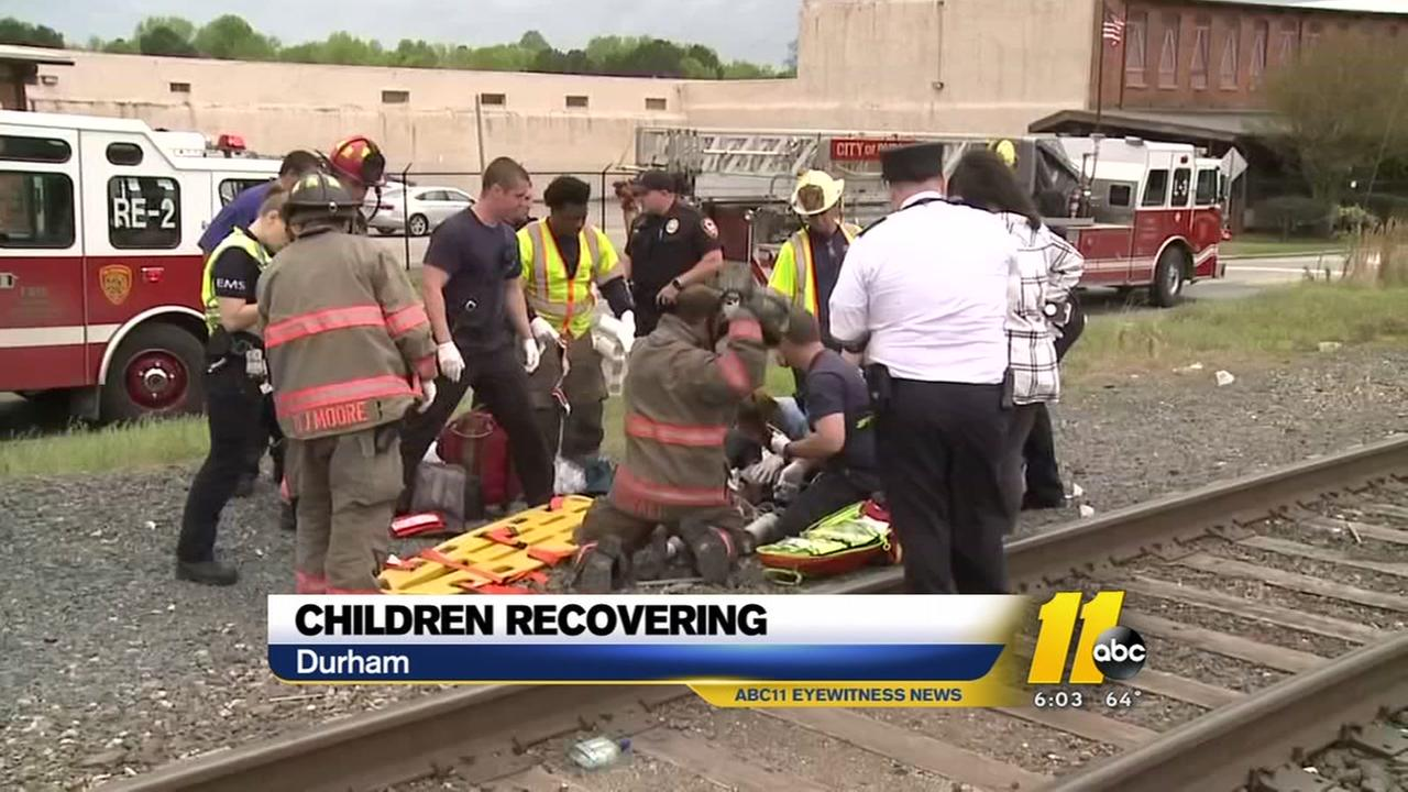 Children recovering after Durham train crash