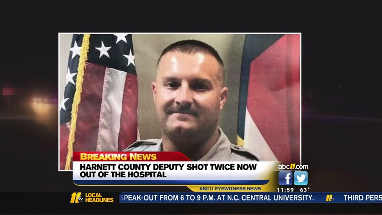 Harnett County deputy shot in face, chest discharged from hospital