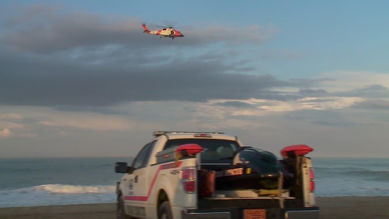 Raw video: Coast Guard searches for boy swept away