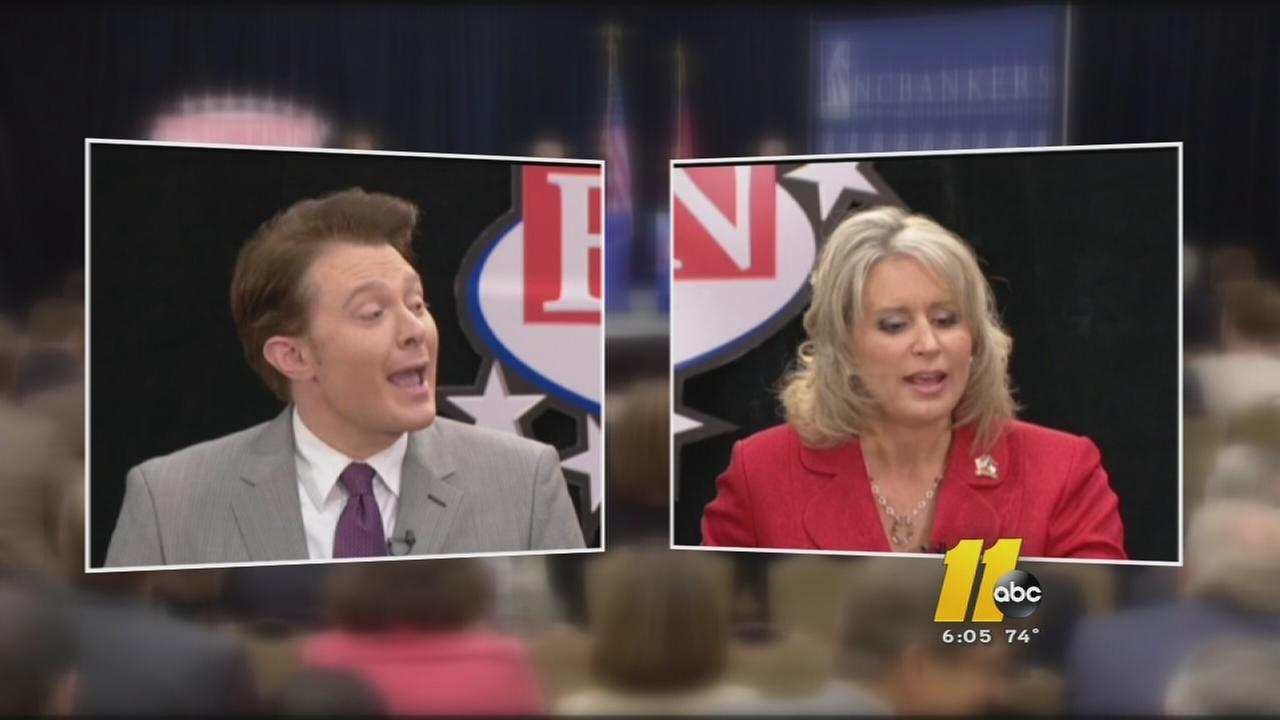 Renee Elmers and Clay Aiken debate
