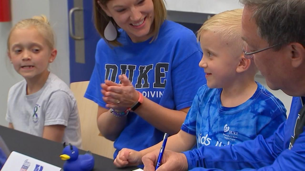 Duke swim team signs 5-year-old boy
