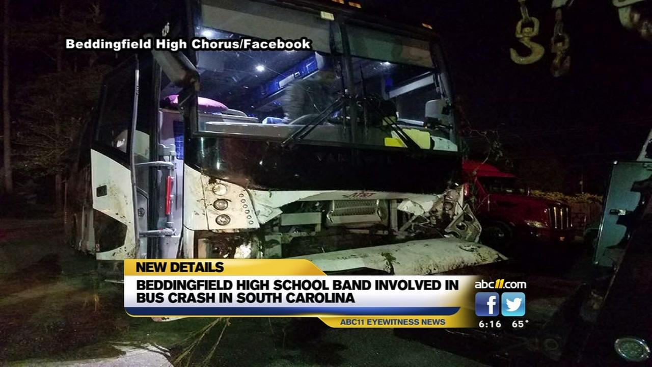 Beddingfield High School chorus group involved in bus crash