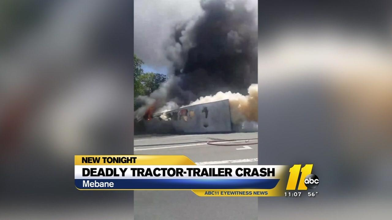 Deadly tractor-trailer crash in Mebane