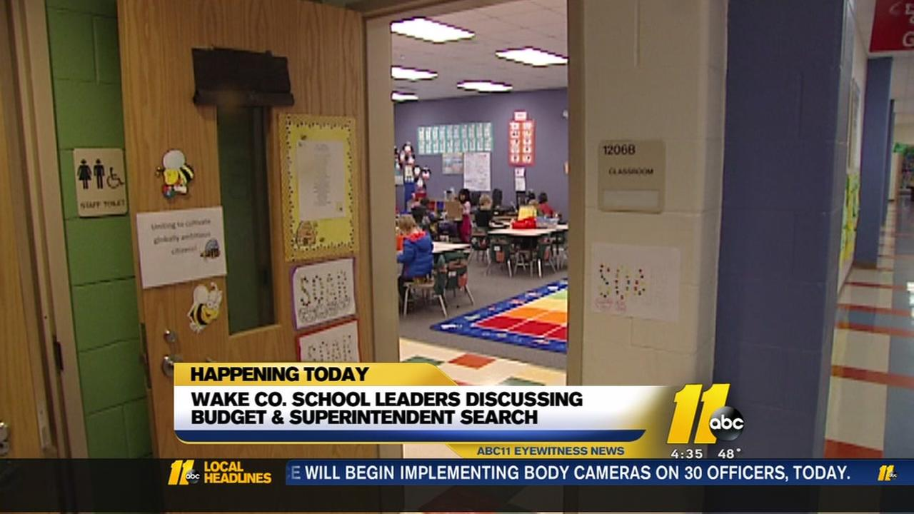 WCPSS leaders to discuss budget, superintendent search