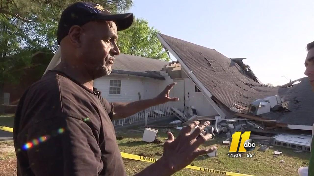 Church roof collapses in Angier