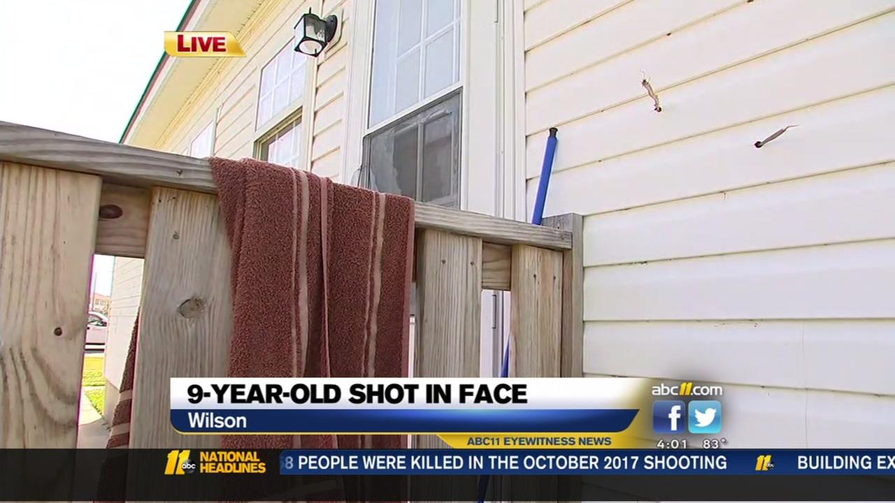 9-year-old boy hit in the face with bullet when shots were fired into Wilson home