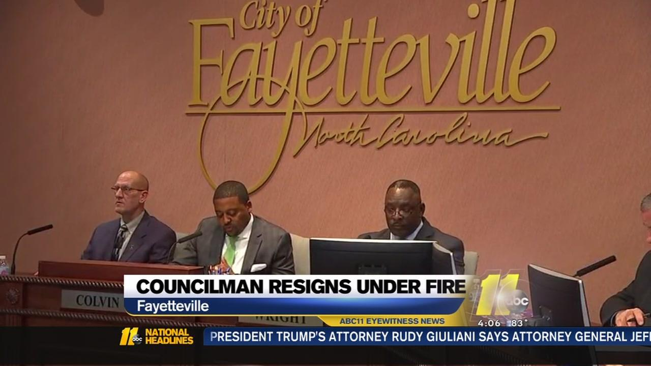 City councilman resigns fayetteville
