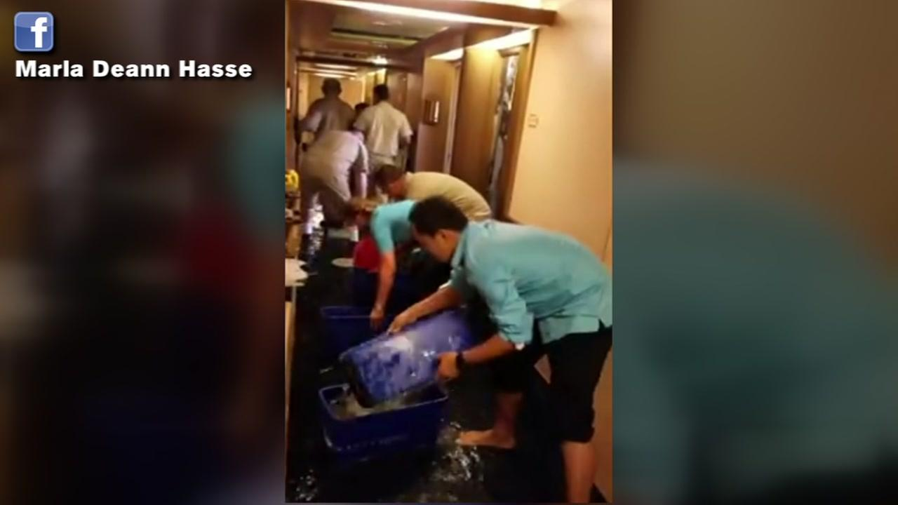 Water line break floods 50 rooms on Carnival cruise ship