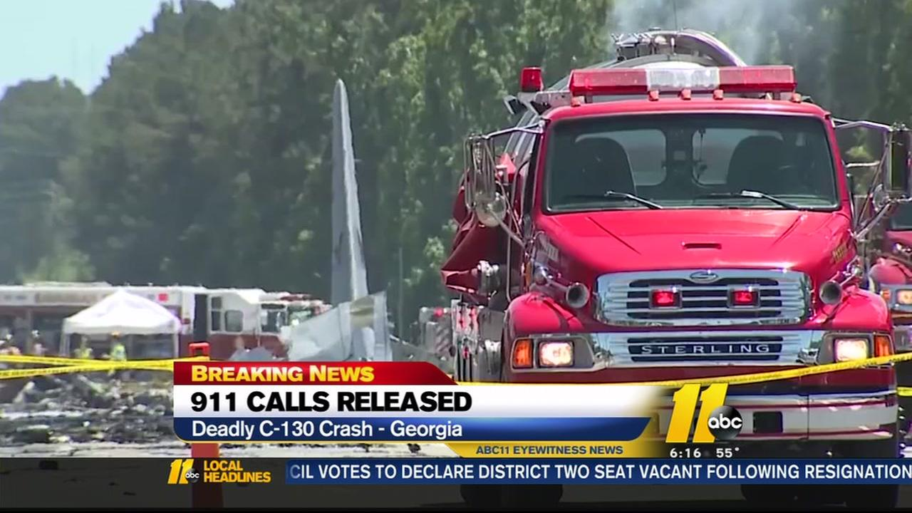 911 callers reported seeing military plane fall from sky