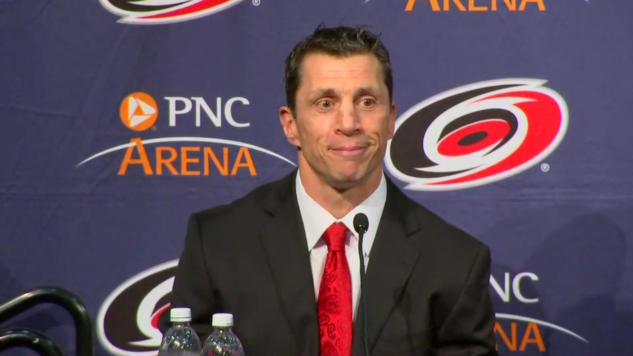 Hurricanes introduce new coach Rod BrindAmour