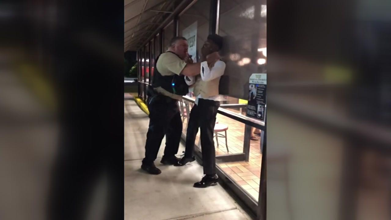 Police investigating after video shows officer putting man in chokehold outside Waffle House