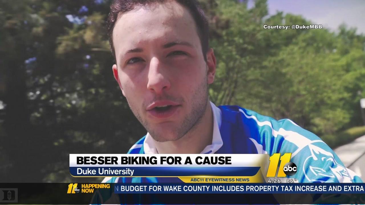 Duke basketball player will bike across country raising money