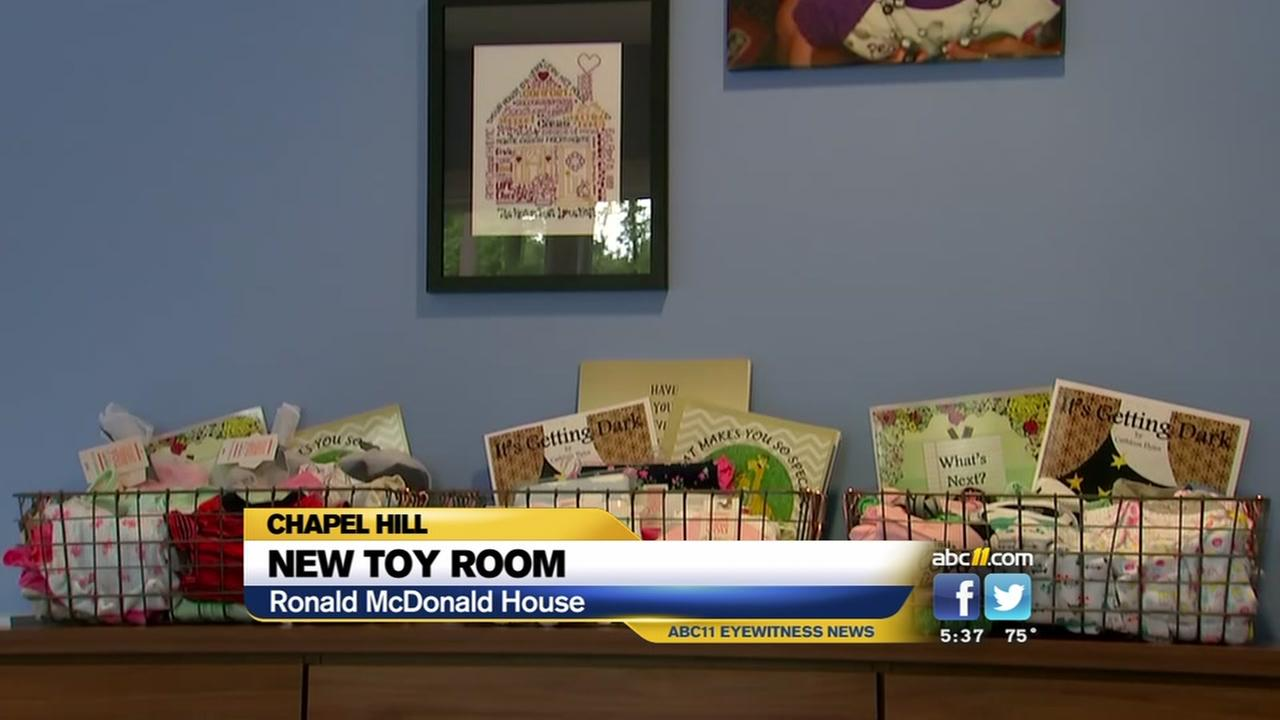 Ronald McDonald House of Chapel Hill unveils new toy room