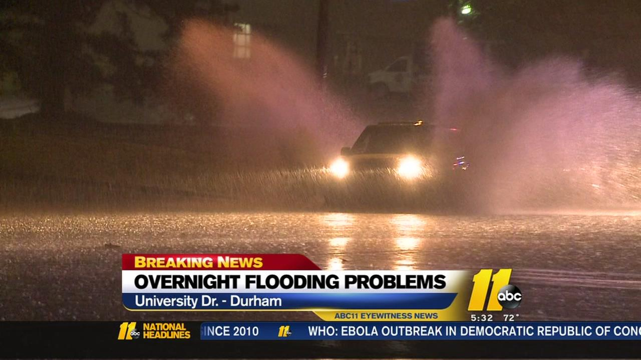 Heavy rain causes Triangle flooding